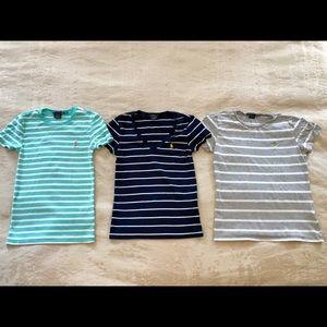 Set of 3 Ralph Lauren Short Sleeve Tops
